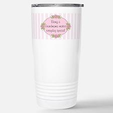 Cute Pink flowers Travel Mug