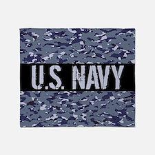 U.S. Navy: Camouflage (NWU I Colors) Throw Blanket