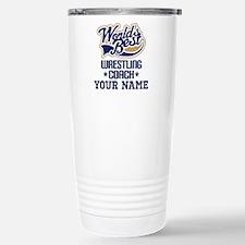 Wrestling Coach Personalized Gift Travel Mug