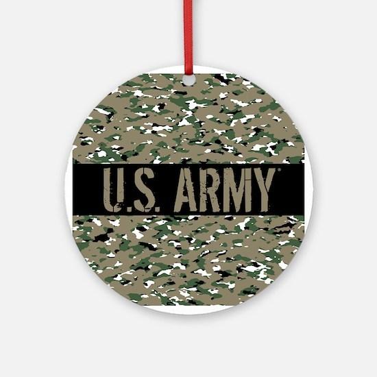 U.S. Army: Camouflage (ACU OCP Colo Round Ornament
