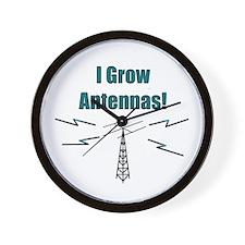 I Grow Antennas Wall Clock