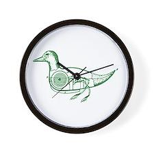 GREEN DUCK Wall Clock