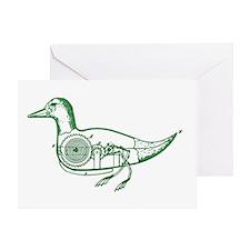GREEN DUCK Greeting Card