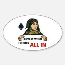 POKER QUEEN Oval Decal
