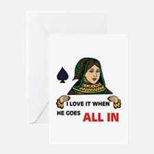 POKER QUEEN Greeting Card