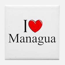"""""""I Love Managua"""" Tile Coaster"""