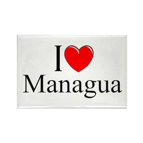 """I Love Managua"" Rectangle Magnet"