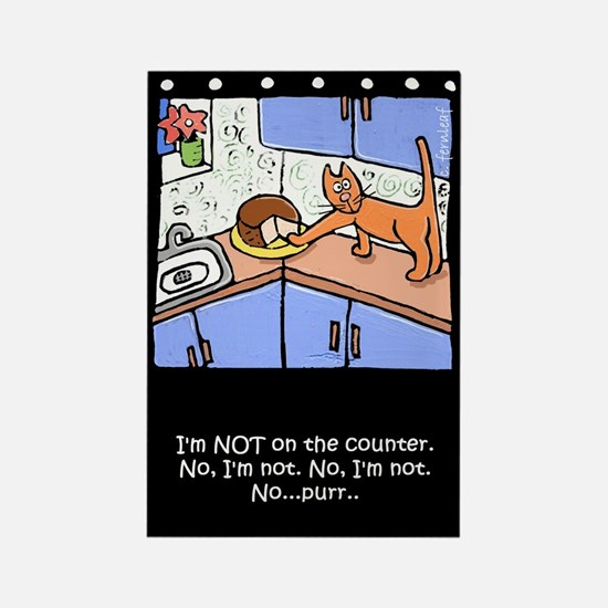 Cat on Counter Rectangle Magnet