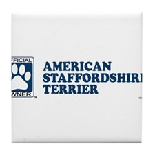 AMERICAN STAFFORDSHIRE TERRIER Tile Coaster