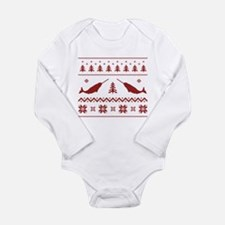 Ugly Narwhal Christmas Sweater Body Suit
