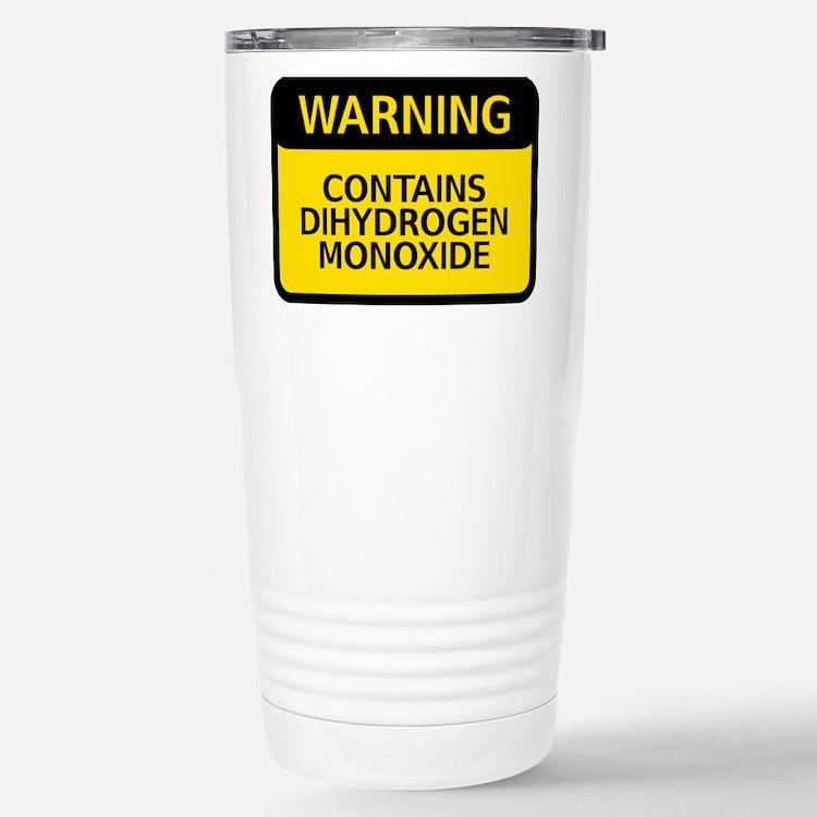 Cute Dihydrogen monoxide Travel Mug