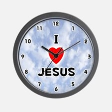 I Love Jesus (Black) Valentine Wall Clock