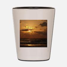 Unique Sunset clouds Shot Glass
