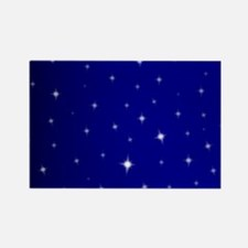 Cute Stary night Rectangle Magnet