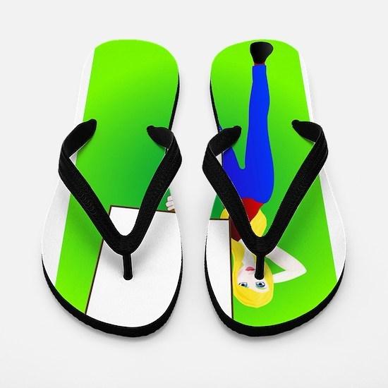 Sign Girl Flip Flops