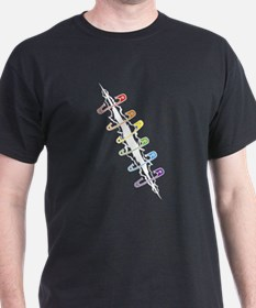 Safety Pins Rainbow T-Shirt