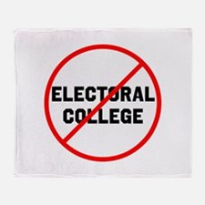 No electoral college Throw Blanket