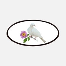 Dove with Wild Rose Patch