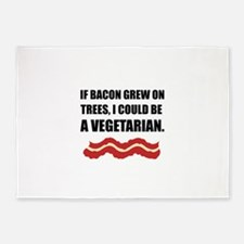 Bacon Grew Trees Vegetarian 5'x7'Area Rug