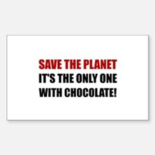 Save Planet Chocolate Decal