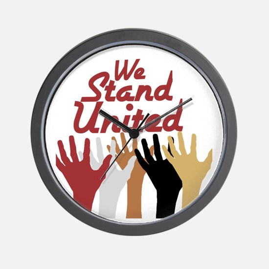 RightOn We Stand United Wall Clock