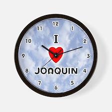 I Love Joaquin (Black) Valentine Wall Clock