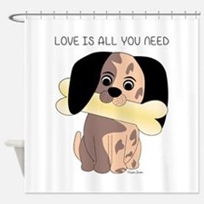 Love Is All You Need Shower Curtain