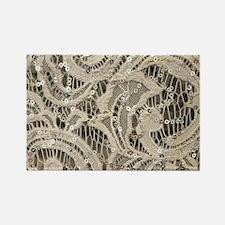 cream sequins lace bohemian Magnets