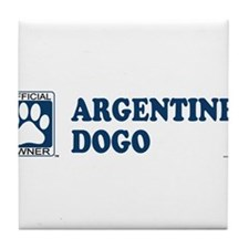 ARGENTINE DOGO Tile Coaster