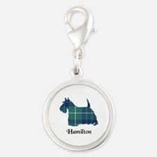 Terrier-Hamilton hunting Silver Round Charm