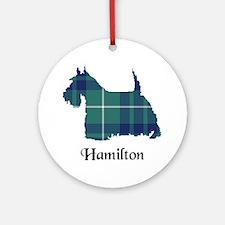 Terrier-Hamilton hunting Round Ornament