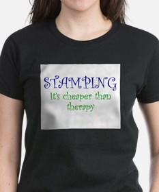 Stamping, Cheaper Than Therapy Ash Grey T-Shirt