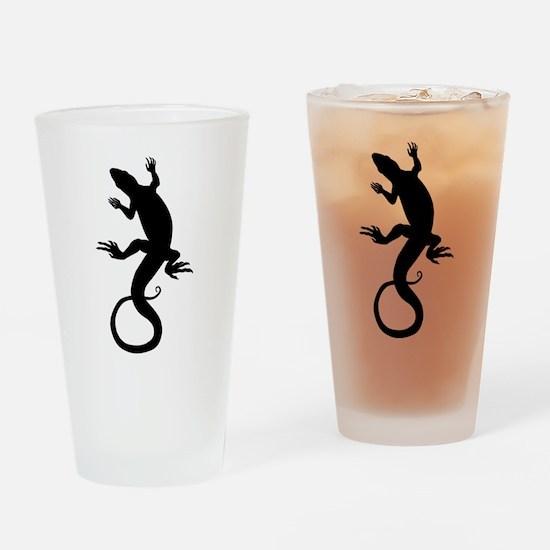 Lizard Art Drinking Glass
