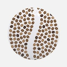 coffee bean beans Round Ornament