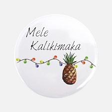 Mele Kalikimaka - Hawaiian Christmas Button