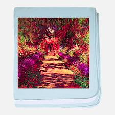 Garden Path by Claude Monet baby blanket
