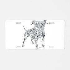 Design SPBR Dog Aluminum License Plate
