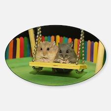Cute Dwarf hamsters Sticker (Oval)