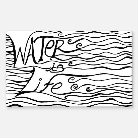Unique Water Sticker (Rectangle)