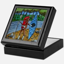 Kayak Sock Monkey Keepsake Box