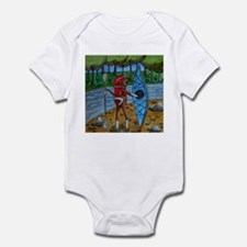 Kayak Sock Monkey Infant Bodysuit