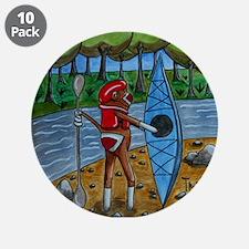 "Kayak Sock Monkey 3.5"" Button (10 pack)"