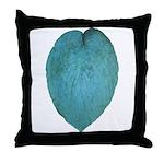 Big Blue Hosta Throw Pillow