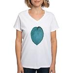Big Blue Hosta Women's V-Neck T-Shirt
