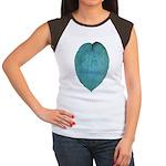 Big Blue Hosta Women's Cap Sleeve T-Shirt