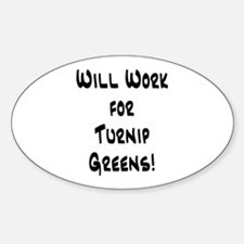 Turnip Greens Oval Decal