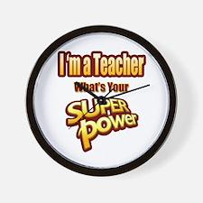 Super Power-Teacher Wall Clock
