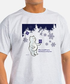 Bear receives a gift in Christmas T-Shirt