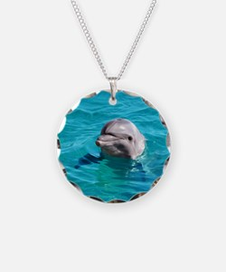 Dolphin Blue Water Necklace