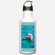 Dolphin Blue Water Water Bottle